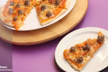 Pizza de albóndigas. Receta