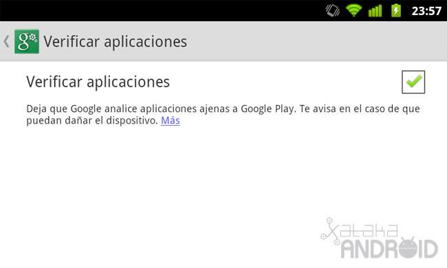 Verificar aplicaciones Android