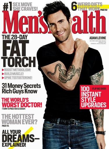 Adam Levine, ¿se puede saber qué haces con camiseta en Men's Health?