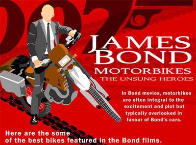 La infografía de las motos de James Bond