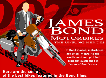 La infografía de las motos de James Bond