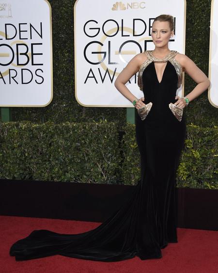 Blake Lively De Versace Globos De Oro 2017