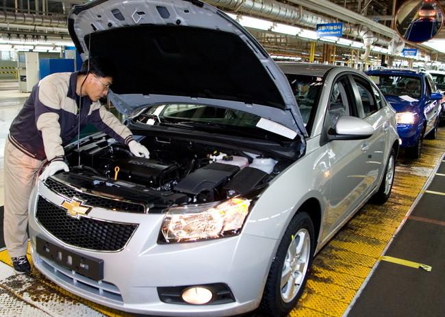 Fabricación del Chevrolet Cruze en Gunsan (Corea del Sur)