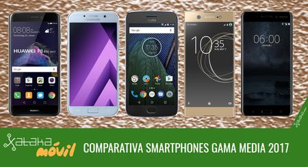Comparativa smartphones de gama media tras las novedades presentadas en el MWC 2017