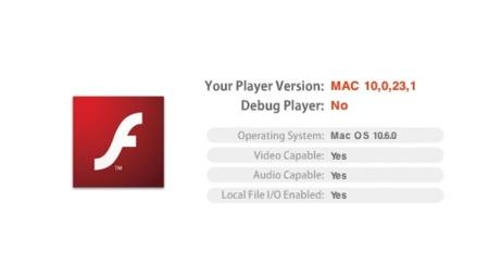 Adobe recomienda actualizar la versión de su reproductor Flash incluido en Snow Leopard