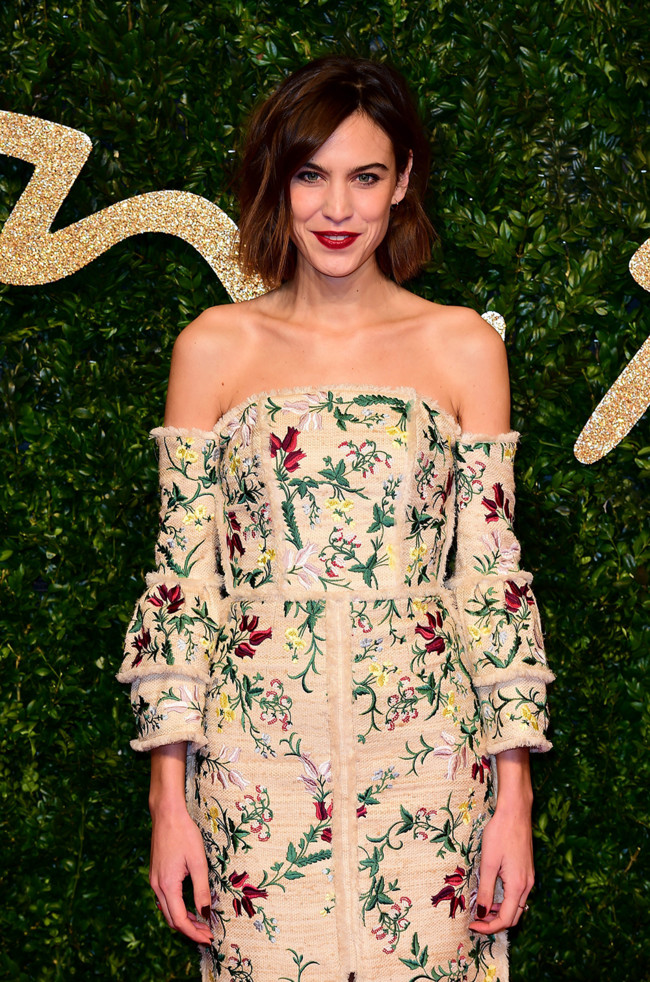 Alexa Chung British Fashion Awards 2015 Erdem 1