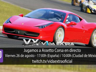 Jugamos en directo a la versión para consolas de Assetto Corsa a las 17:00h (las 10:00h en Ciudad de México)