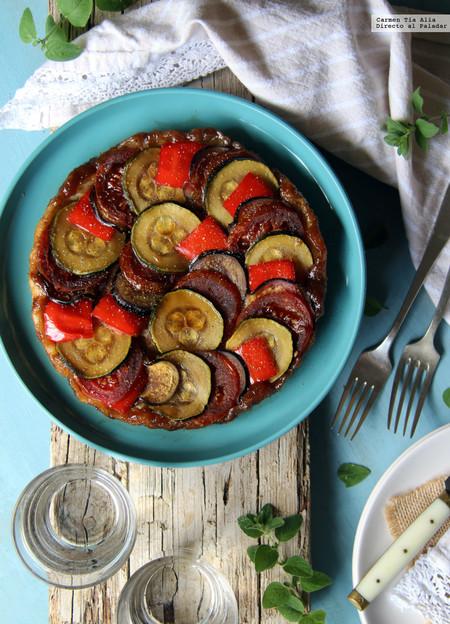 tarta tatín de verduras