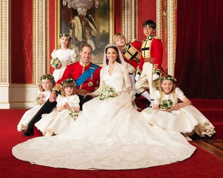 El look de Catherine en las fotos oficiales de la boda