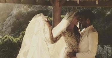 La boda secreta de Dani Alves y Joana Sanz. Así ha sido el vestido de novia de la modelo