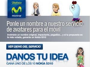 Ponle nombre al servicio de avatares de Movistar
