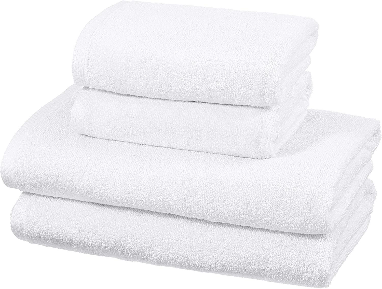 Amazon Basics - Juego de 4 toallas de secado rápido