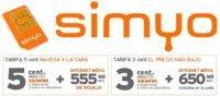 Simyo mejora sus tarifas aumentando los MB incluidos en las tarifas para hablar y navegar