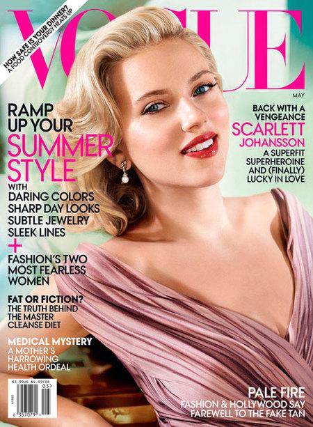 Scarlett Johansson o cómo hacer gala del glamour hollywoodiense en Vogue