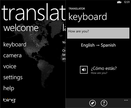 Bing Translator se actualiza ahora con soporte para Windows Phone 8