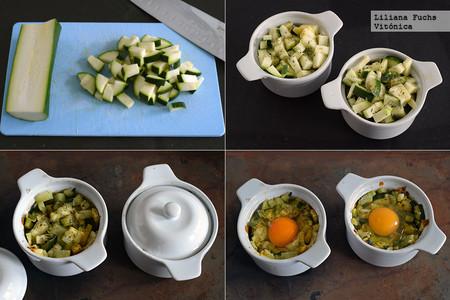 Huevos al horno con Calabacín. Pasos