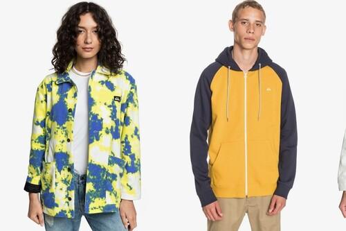 Chollos en tallas sueltas de camisetas, chaquetas o sudaderas Quiksilver, con hasta un 50% de descuento