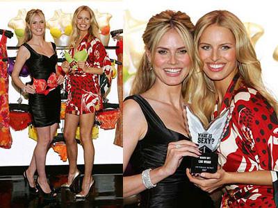 Heidi Klum y Karolina Kurkova en los Premios What is sexy?