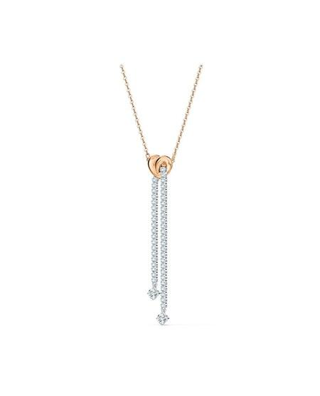Collar Swarovski Lifelong Heart Banado En Oro Rosa Con Cristales Transparentes