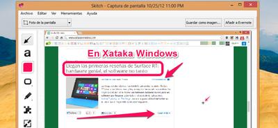 Skitch llega a Windows, en versiones para la Modern UI y escritorio