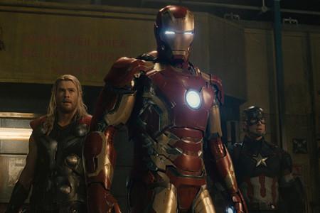 Thor, Iron Man y Capitán América en Vengadores 2