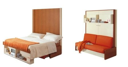 Las camas ocultas de clei for Cama escondida en mueble