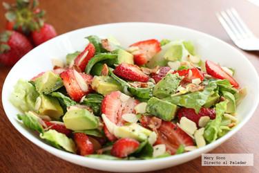 Ensalada de fresas y aguacate. Receta