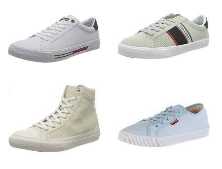 Chollos en tallas sueltas de zapatillas Tommy Hilfiger, Superdry o Levi's por menos de 40 euros en Amazon