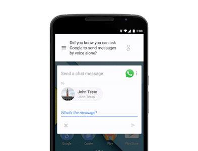 """""""Ok, Google"""" ahora permite enviar mensajes en WhatsApp, Viber y más"""
