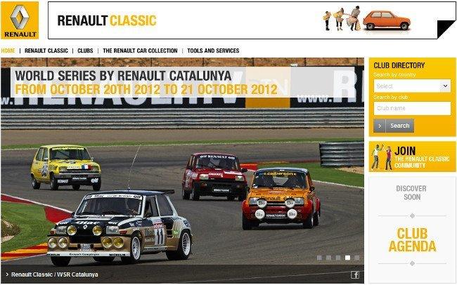 Renault Classic, la web de coches clásicos de Renault
