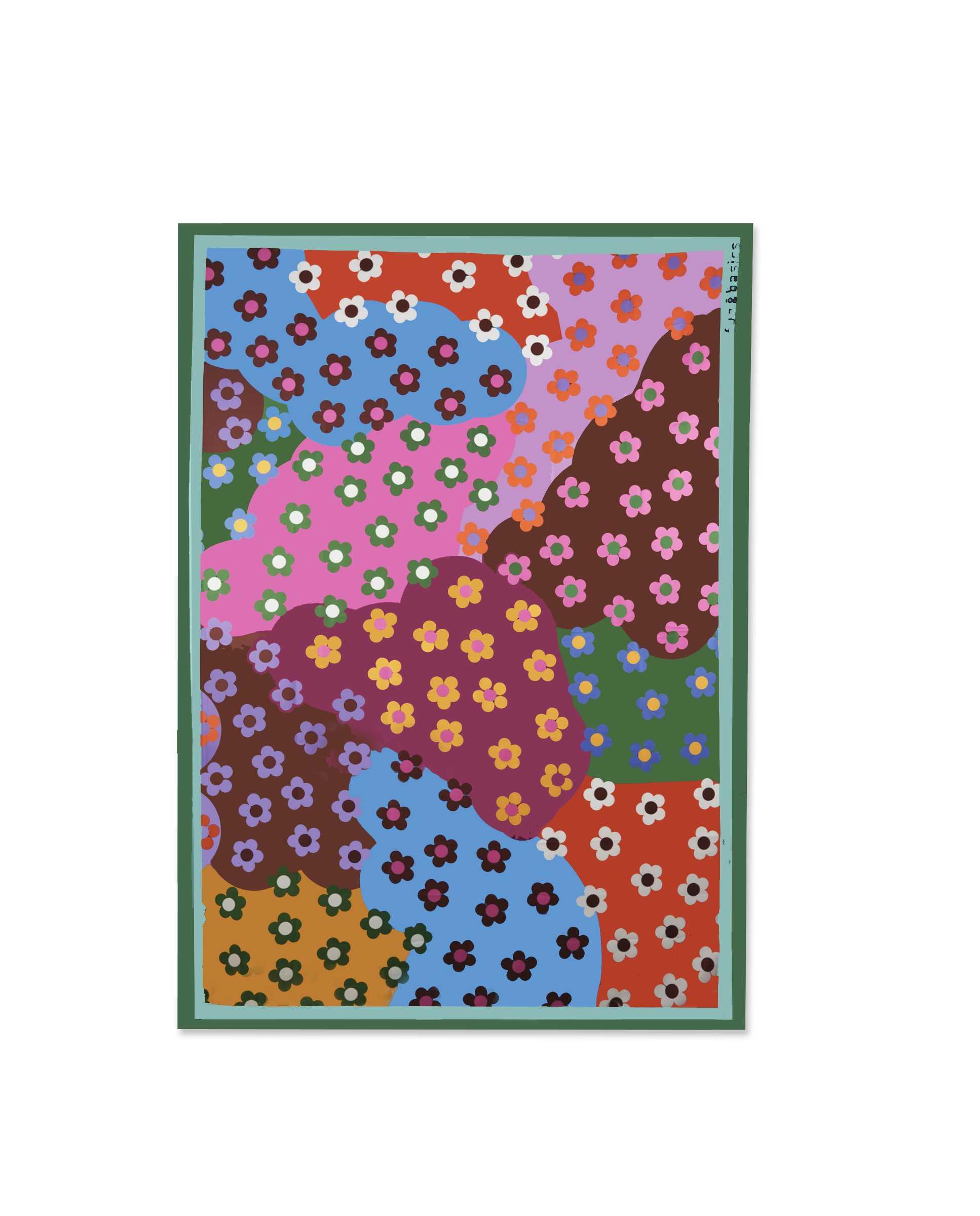 Pañuelo de flores de colores