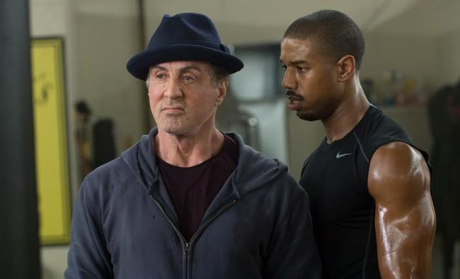 Stallone and Michael B. Jordan in Creed