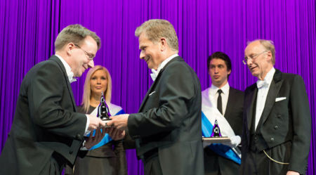 Linus Torvalds recibe el Millennium Technology Prize 2012