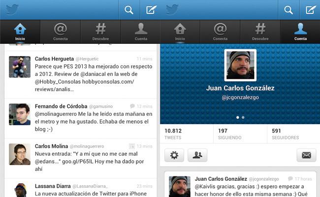 Actualización Twitter