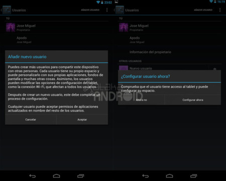 Multiusuarios en Android 4.2 (Jelly Bean)