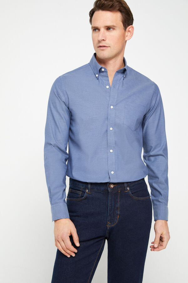 Camisa lisa fácil plancha algodón extra suave