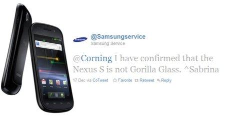 Nexus S se olvida de Gorilla Glass