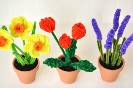 Manualidades Primavera Flores Limpiapipas