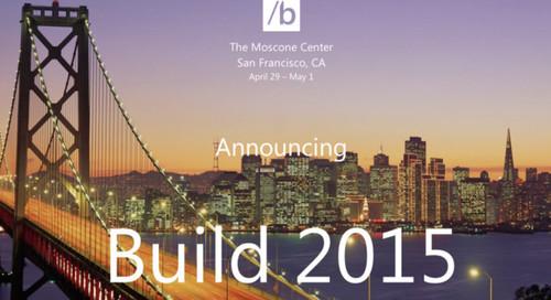 ¿Qué podemos esperar de Microsoft en la Build 2015?