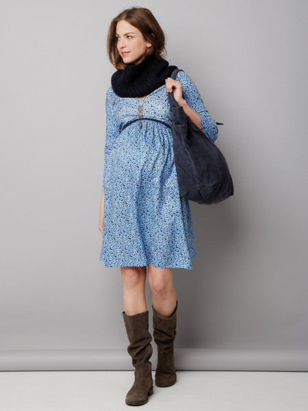 Vestido Premama Azul
