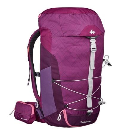 Mochila Pequena De Montana Y Trekking Quechua Mh100 30litros Mujer Violeta