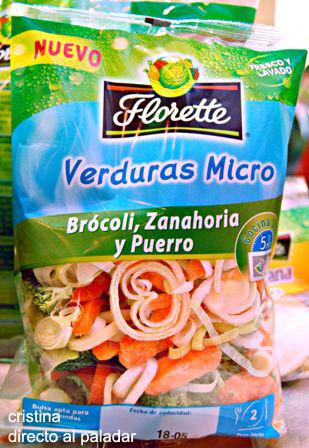 Verduras al vapor florette