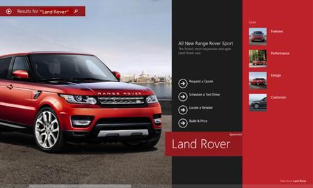 Microsoft prueba nuevos anuncios a pantalla completa para Bing Smart Search en Windows 8.1