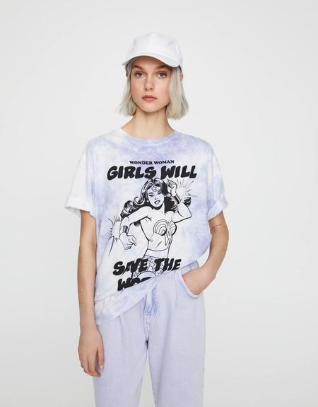 Camiseta cropped con bolsillo