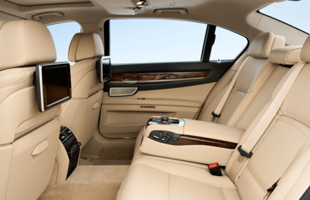 BMW Serie 7 asientos traseros