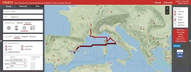 Conoce el proyecto ORBIS, el Google Maps del Imperio Romano (con sus vías incluidas) en pleno siglo III