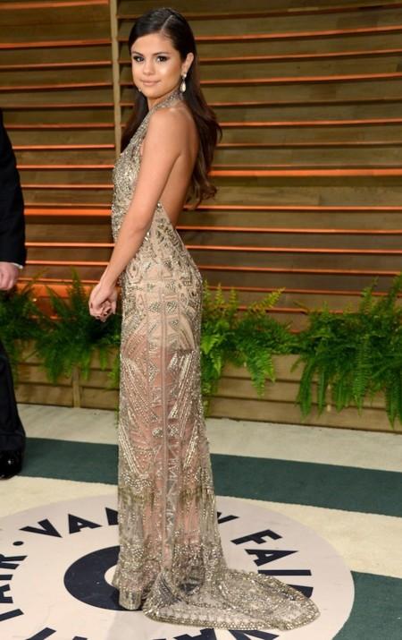 Selena Gomez oscar 2014 look Vanity Fair