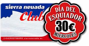Los miércoles serán el día del esquiador en Sierra Nevada