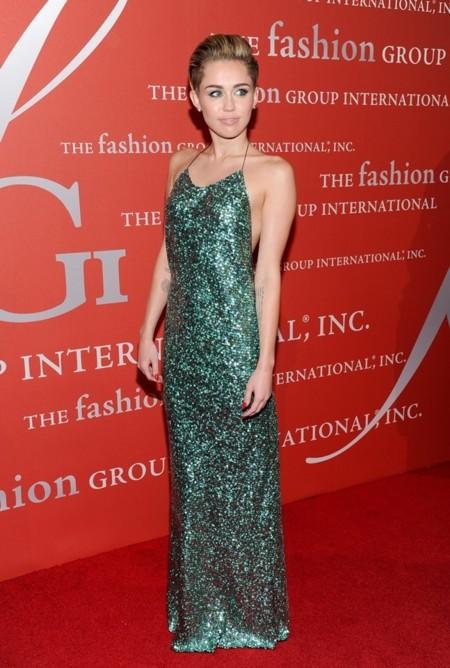 Miley-Cyrus-green dress