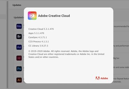 Adobe actualiza la suite de Creative Cloud para solucionar el error que ponía el consumo de la CPU al 100% en Big Sur